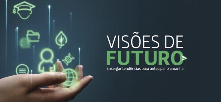 Imagem mostra o banner do evento Visões de Futuro