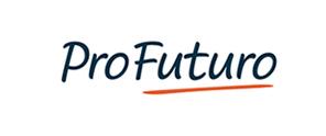 Logo do Profuturo traz a palavra Profuturo sublinhada em vermelho