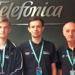 Klaus Holler e Luiz Perez Fruscaldo , ao lado do educador Elmar Corrêa criaram o Demape – Dispositivo Eletrônico de Monitoramento e Assistência para Emergências.
