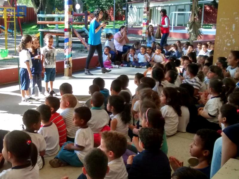 2016: Uma vez por mês ocorre a Assembleia Infantil, quando os estudantes falam sobre temas da escola.