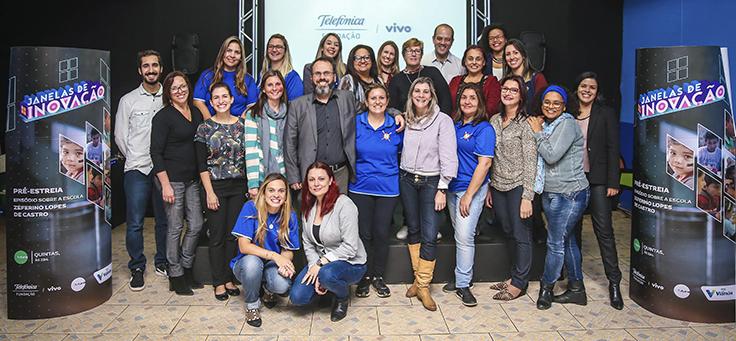 Pré-estreia do episódio da série Janelas de Inovação sobre a EMEF Zeferino Lopes de Castro, em Viamão (RS)