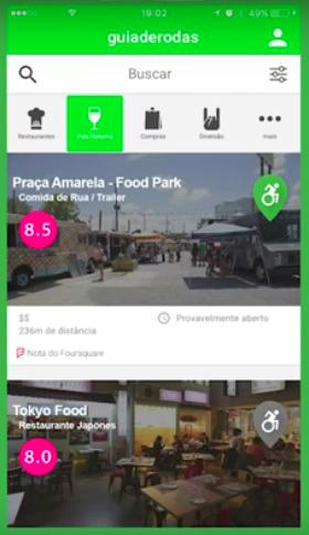 Tela do aplicativo com rankings
