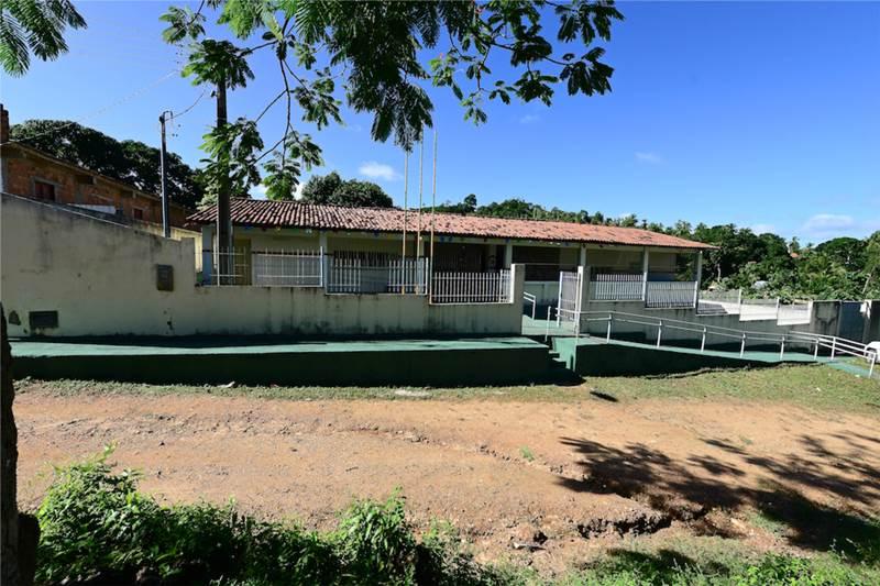 Entrada da Escola Rural Povoado Cabrita, da cidade histórica sergipana de São Cristóvão