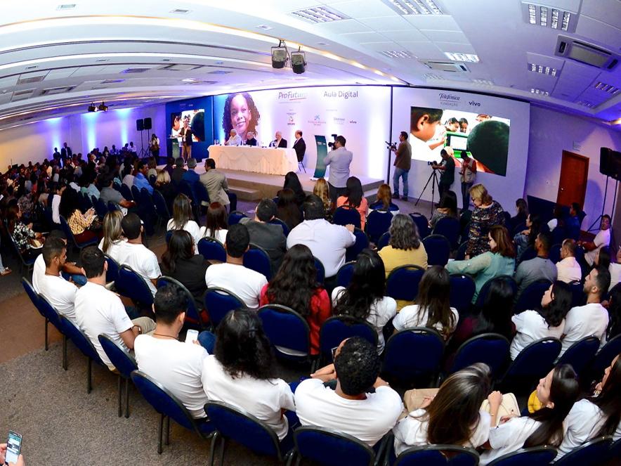 Lançamento do projeto Aula Digital em Sergipe. Mais de 300 escolas participam
