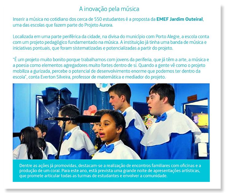 Imagem mostra professores reunidos em escola de Viamão, no Rio Grande do Sul