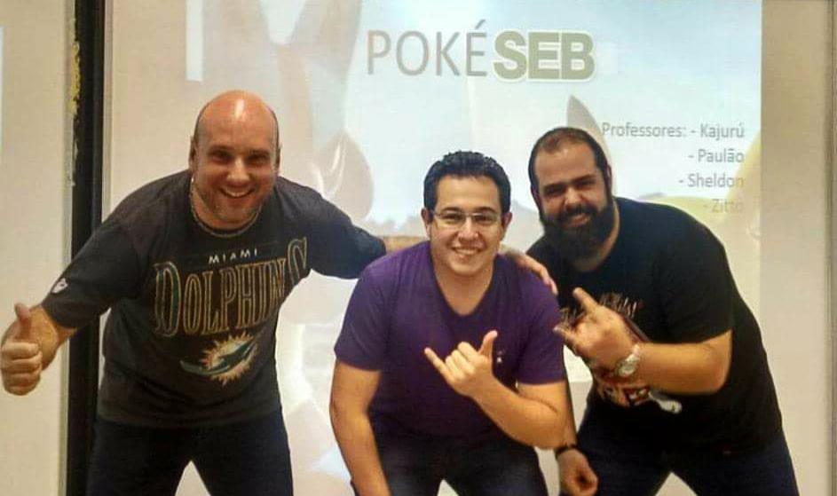 Os educadores Paulo Pellegrini, Lucas Benjamin e Zitto Rocha