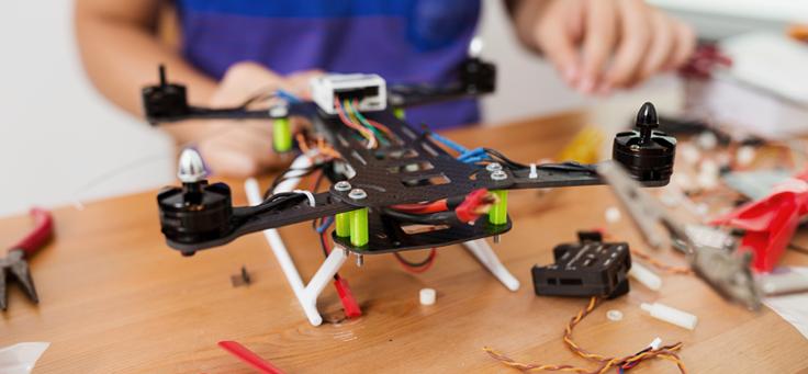 Imagem mostra um drone