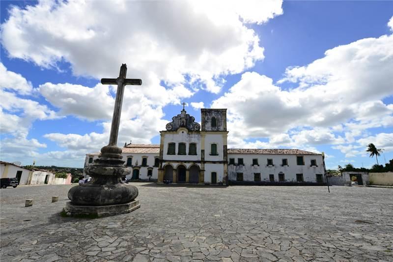 Praça São Francisco, na cidade histórica de São Cristóvão, em Sergipe