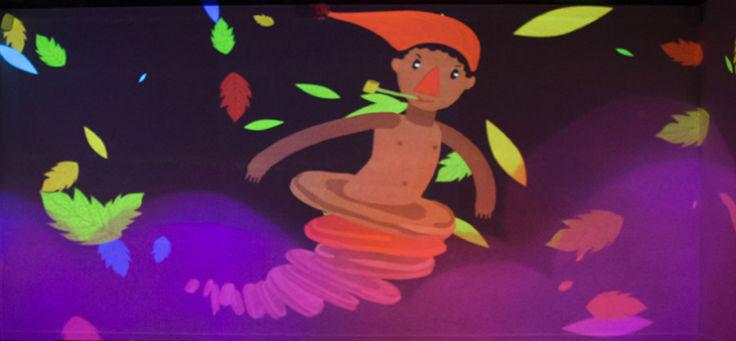 Imagem mostra projeção de imagem do Saci-Perere