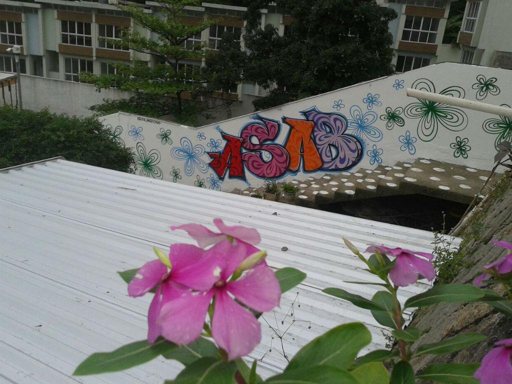 Muro grafitado com a palavra ASAB