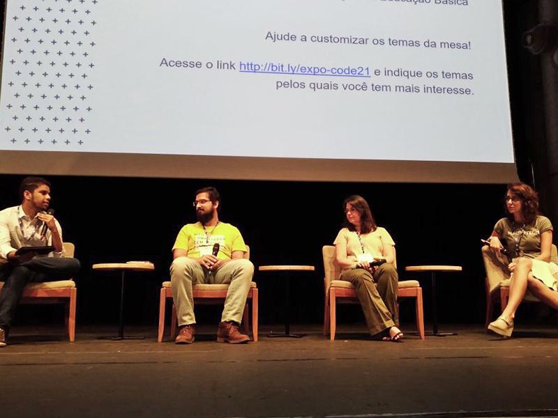 Roda d conversa no Expo: Educação, Tecnologia, Futuro