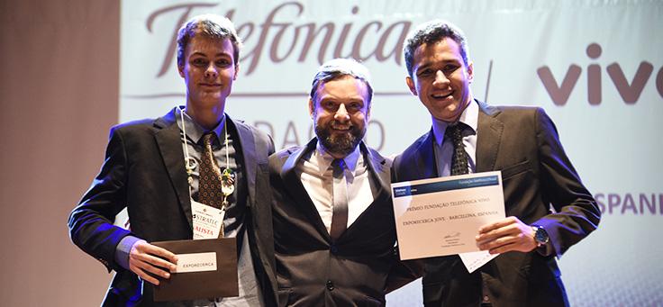 Jovens premiados na Mostratec