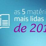 Logotipo com fundo azul em que está escrito: as cinco matérias mais lidas de 2017