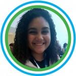 """Foto 2_Luiza - Luiza Vicente de Oliveira, 13, também é representante da EM André Urani (RJ) e se diz maravilhada com a oportunidade de ter sua voz ouvida e ampliada durante o evento. """"Queremos nos expressar e falar tudo o que queremos""""."""