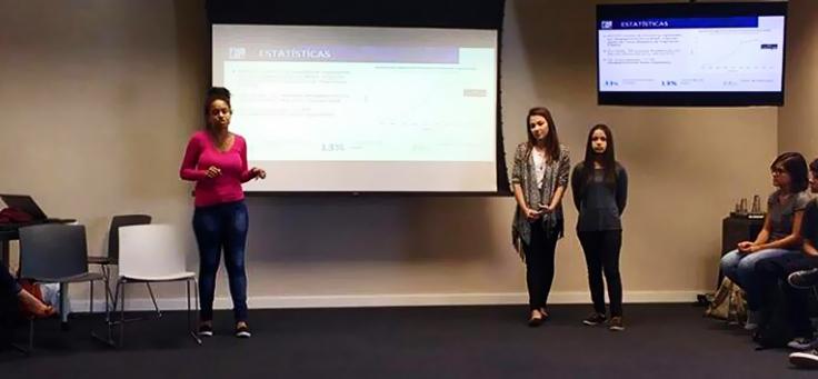 Maiala Safira, Vittoria Zachi e Vitória Mazoni, alunas de 17 anos da ETEC André Boasin,Find Lost, criaram app para facilitar a busca por pessoas desaparecidas