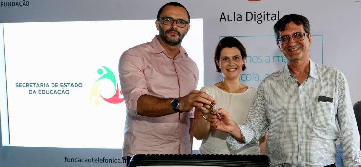 Lançamento do Aula Digital na Escola Estadual General Calazans, na cidade de Nossa Senhora das Dores (SE),