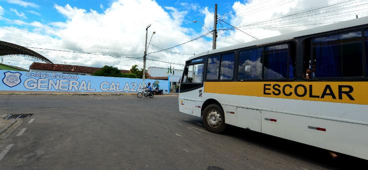 Entrada da Escola Estadual General Calazans, na cidade de Nossa Senhora das Dores (SE), que é uma das contempladas pelo Aula Digital
