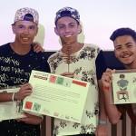 Murilo Oliveira. Luís Henrique de Oliveira e Matheus Souza da Silva criaram um plano que aula que usa o rap como método de ensino