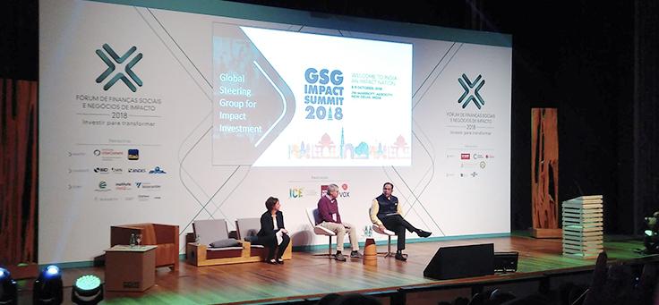 Especialistas discutem em roda de conversa no palco do Fórum de Finanças Sociais e Negócios de Impacto
