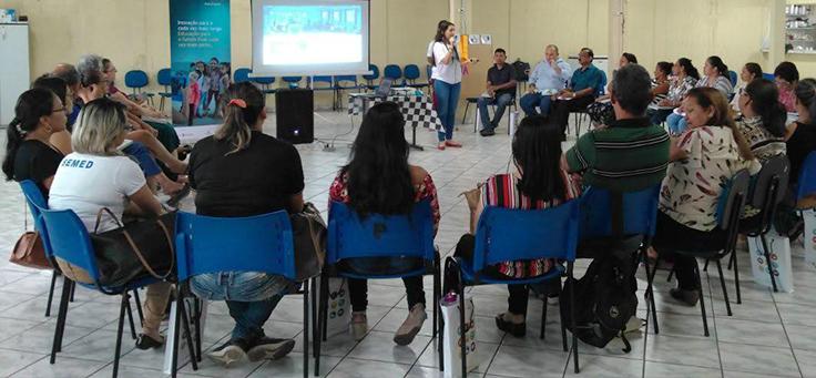 Educadores participam de módulos de formação do Aula Digital em Manaus