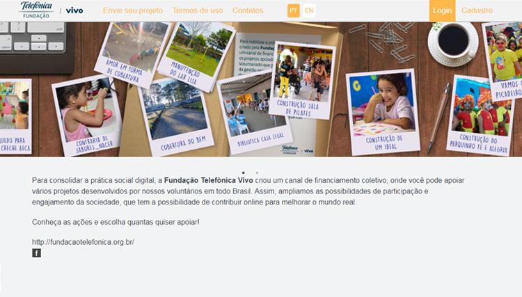 Imagem da plataforma Juntos traz fotos que ilustram os projetos apoiados pelos comitês de voluntariado