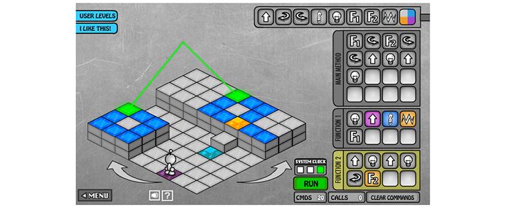 Imagem mostra jogo de celular do app Light Bot
