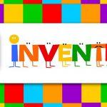 Imagem mostra o logo do aplicativo gratuito Inventeca, formado pela palavra Inventeca e ilustrado com quadrados de várias cores
