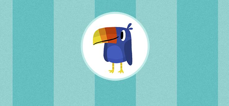 O pássaro Pip, um dos personagens do aplicativo que identifica crianças em risco de desenvolver dificuldades de aprendizagem, é um tucano que tem bico de três cores: amarelo, laranja e vermelho.