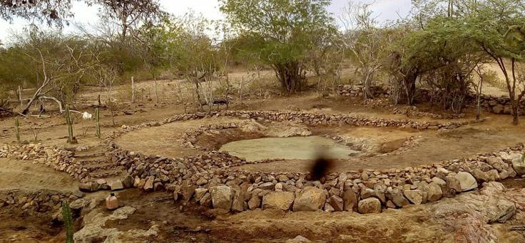 Escavação da nascente