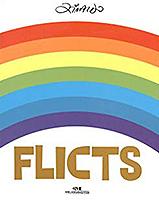Capa de Flicts, livro do universo infantojuvenil, traz um arco-iris centralizado, em fundo branco, com o nome do autor, Ziraldo, no alto.