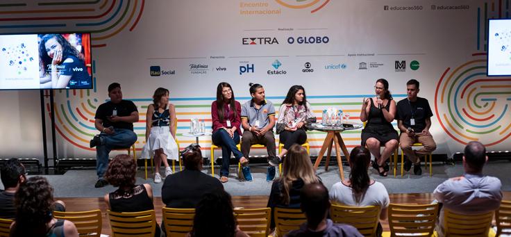 Mesa debate a publicação Juventudes e Conexões, que foi lançada durante o evento Educação 360