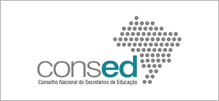 Imagem mostra logo do Consed