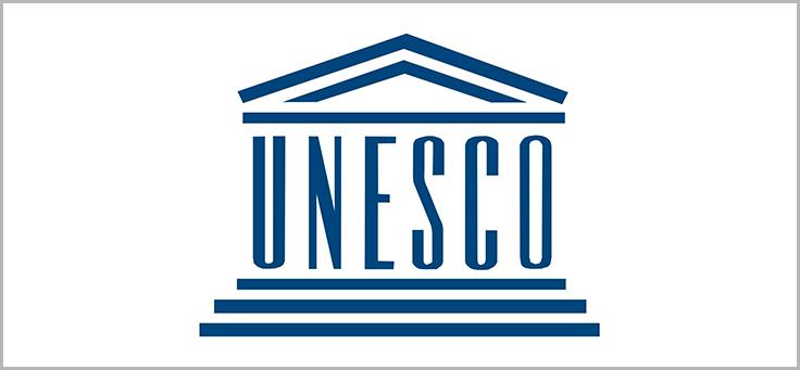 Imagem mostra logo da Unesco