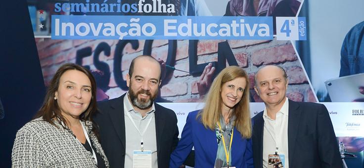 Fórum Inovação Educativa, promovido pela Folha de S.Paulo em parceria com a Fundação Telefônica Vivo, reuniu nomes como o diretor-presidente Americo Mattar, o vice-presidente de relações institucionais da Vivo, Renato Gasparetto, e Claudia Constin, diretora do Centro de Excelência e Inovação em Políticas Educacionais da FGV.
