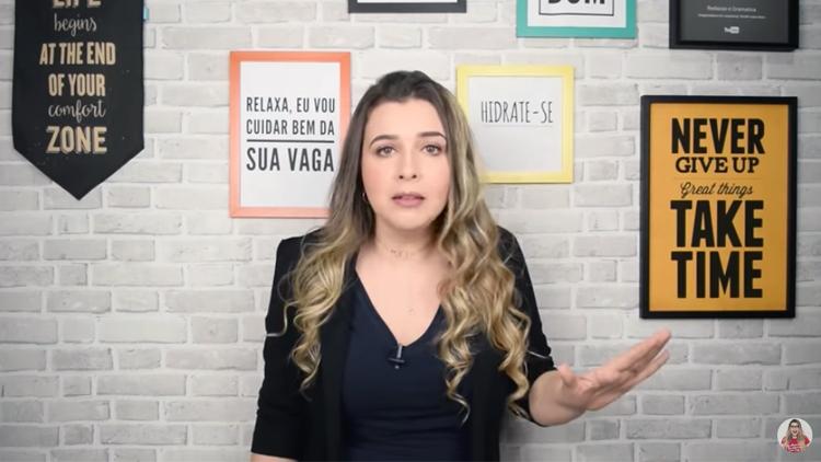 Frame do Canal Redação Gramática Zica