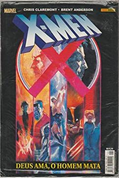 X-Men: Deus Ama, o Homem Mata é um dos quadrinhos que podem ser usados para debater temas da sociedade em sala de aula. Na capa, cinco personagens, entre eles Wolverine, aparecem em quadros abaixo do rosto do Professor Xavier e do título X-Men.