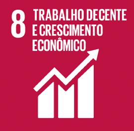 O ODS 8 é sobre Trabalho Decente e Crescimento Econômico.