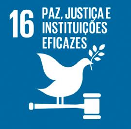 O ODS 16 é sobre Paz, Justiça e Instituições Eficazes.