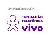 Logo da Fundação Telefônica Vivo em azul e púrpura